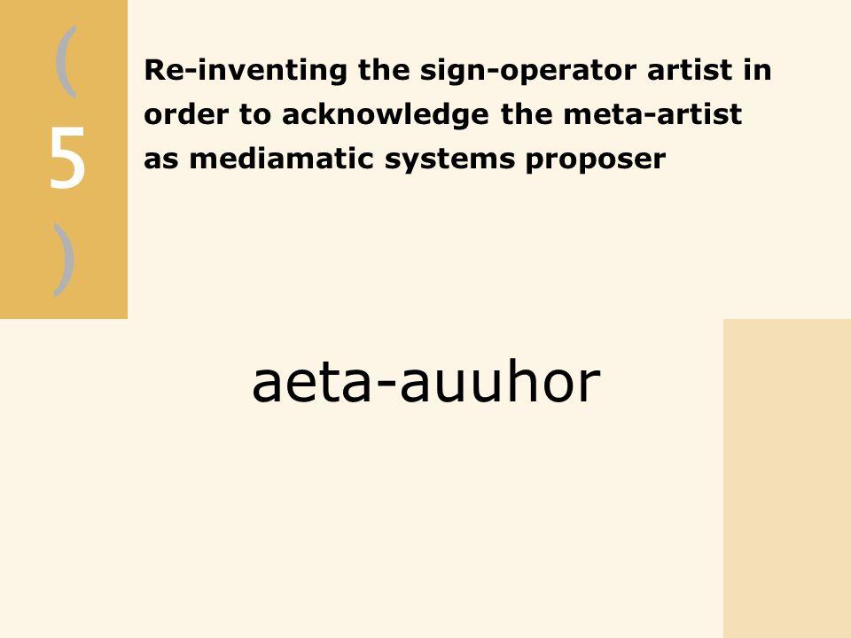 (5)(5) aeta-auuhor