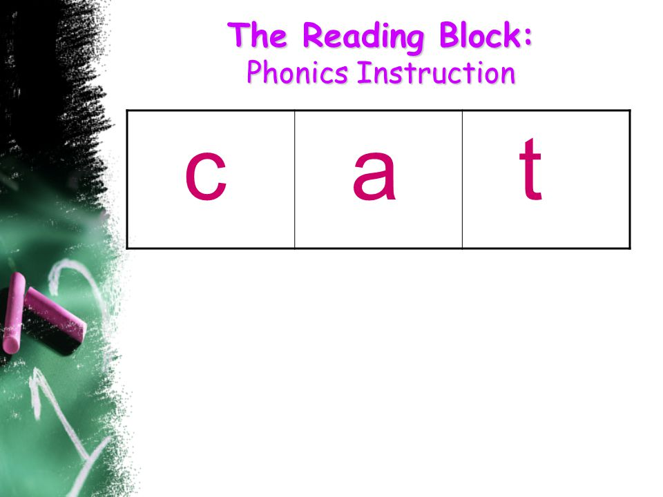 The Reading Block: Phonics Instruction c a t