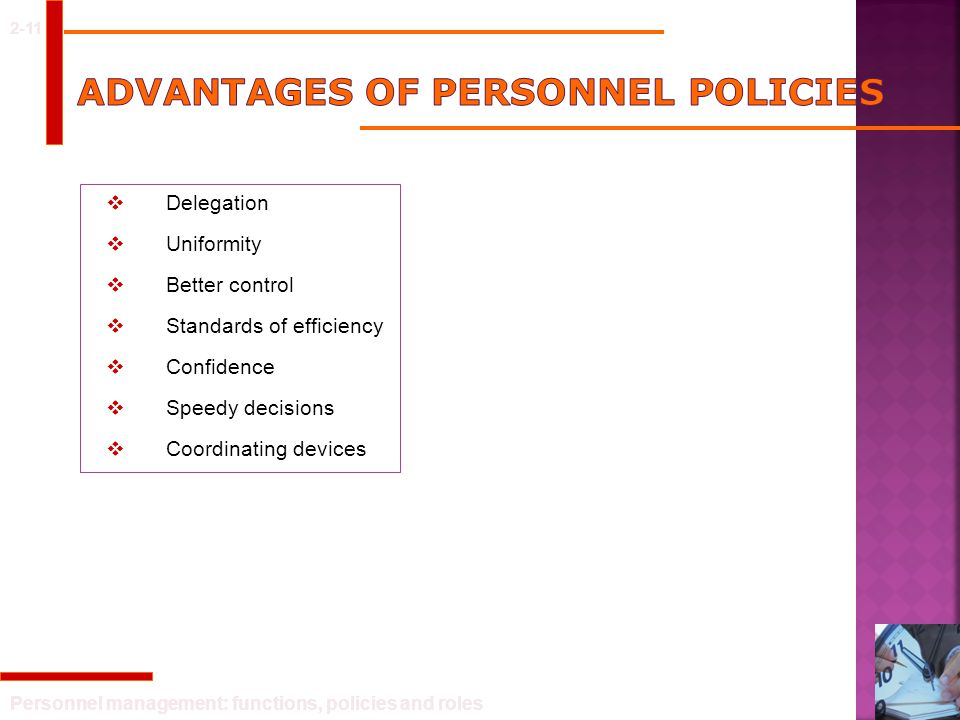 Personnel management: functions, policies and roles 2-21 Personnel department in a divisionalised structure