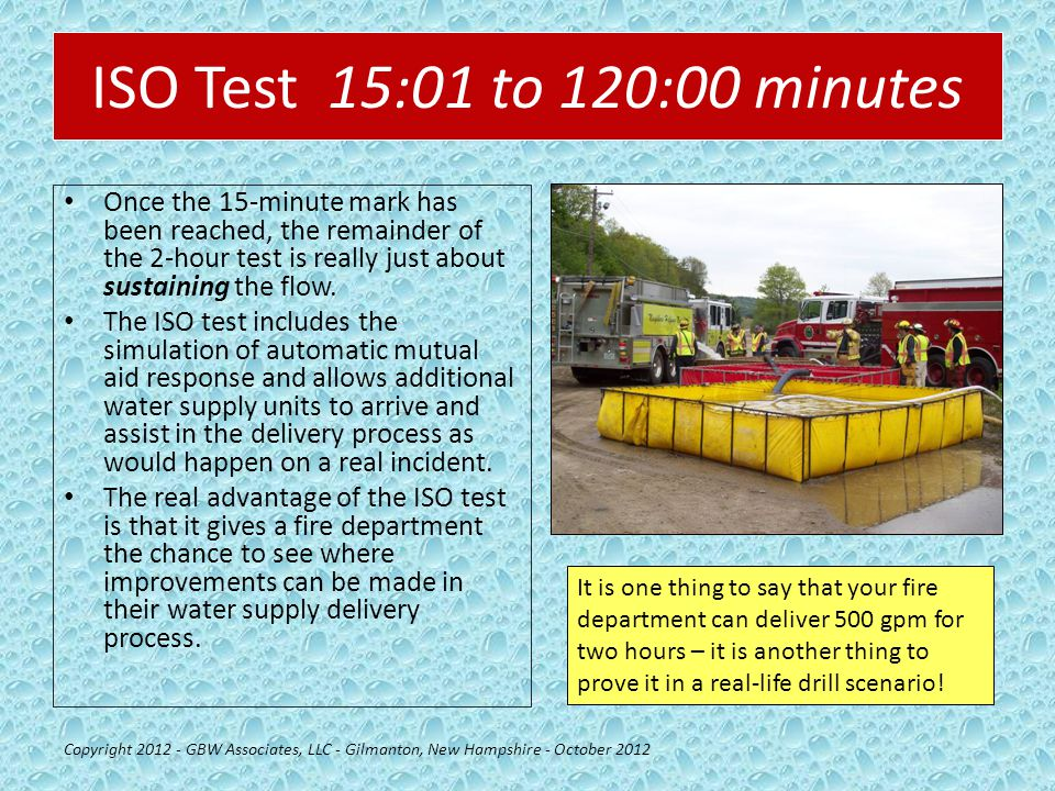 ISO Test 15:01 to 120:00 minutes Once the 15-minute mark has been reached, the remainder of the 2-hour test is really just about sustaining the flow.