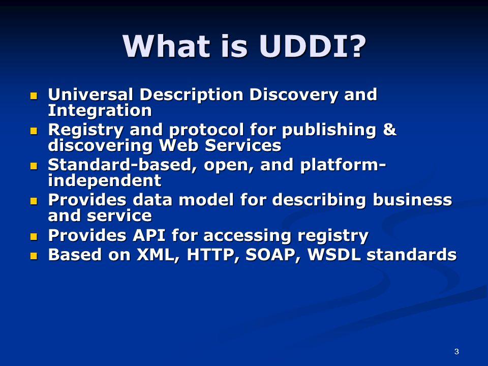 3 What is UDDI.