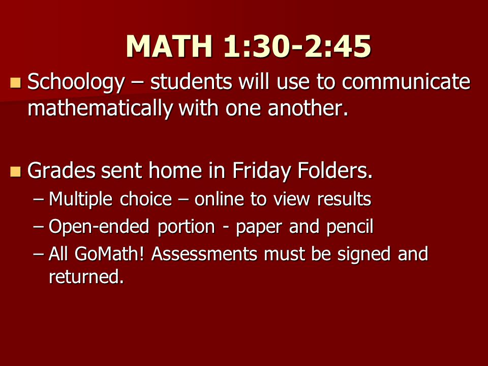 CONTENT 2:45-3:15 Coordinated with LEAD 21 Coordinated with LEAD 21 Grading: Grading: –Inquiry projects will contribute –Content area quizzes, tests, and additional projects –Reported twice a year Social Studies - Mrs.