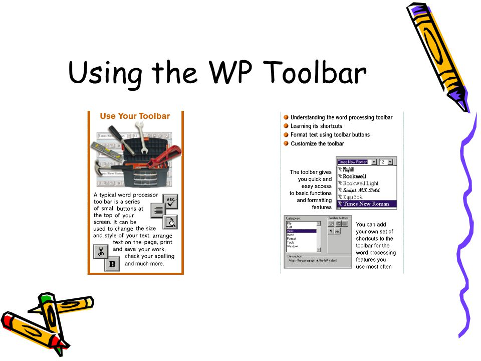 Using the WP Toolbar