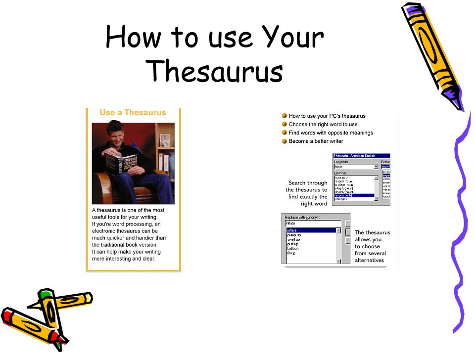 How to use Your Thesaurus