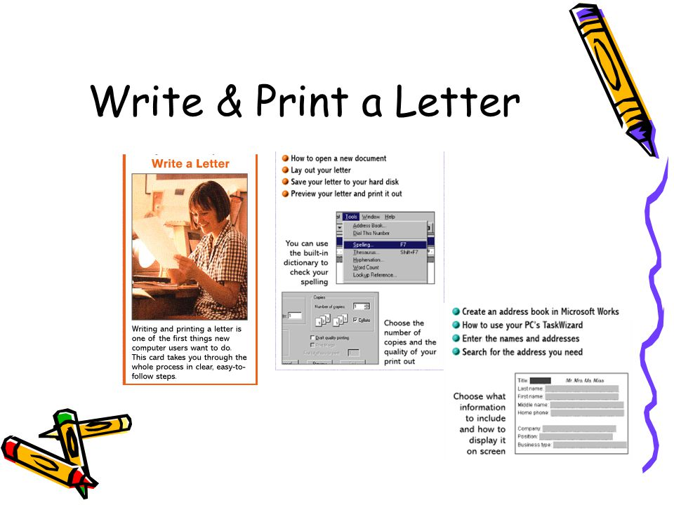 Write & Print a Letter