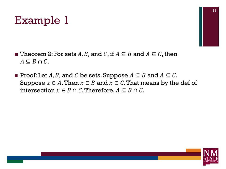Example 1 11