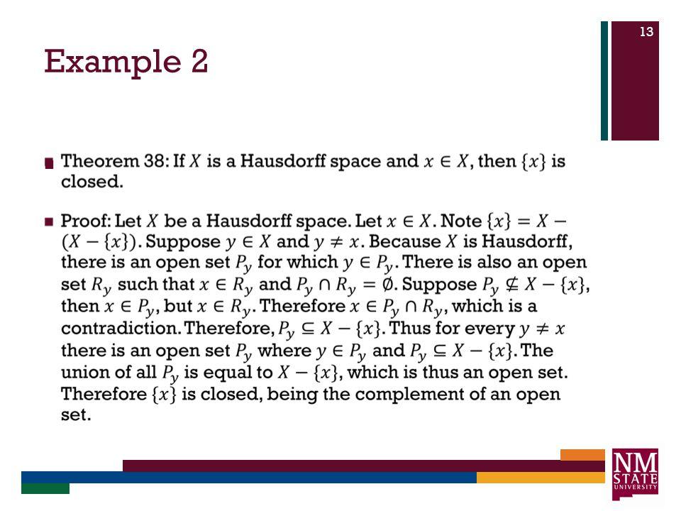 Example 2 13