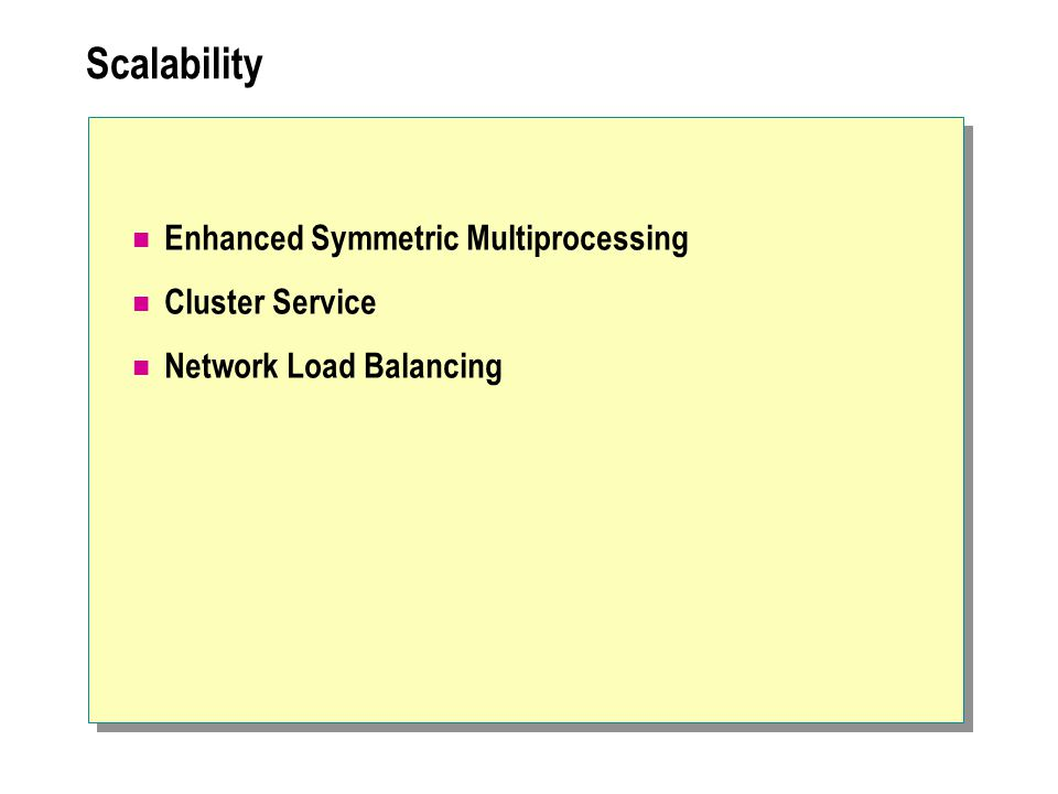 Scalability Enhanced Symmetric Multiprocessing Cluster Service Network Load Balancing