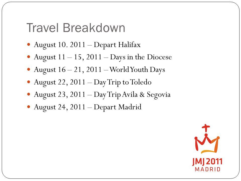 Travel Breakdown August 10.