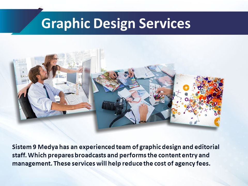 Graphic Design Services Sistem 9 Medya has an experienced team of graphic design and editorial staff.