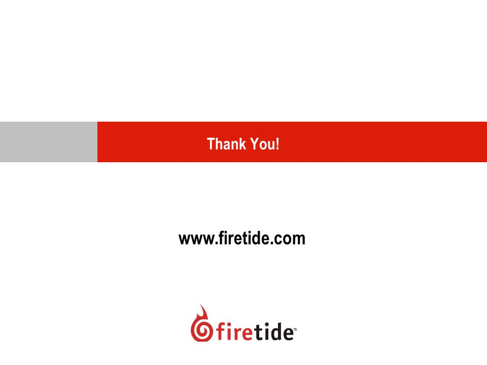Thank You! www.firetide.com