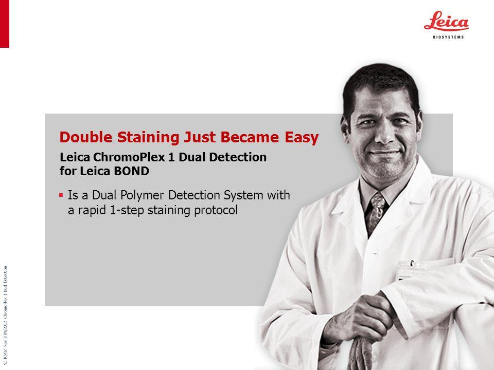 Menu 95.10782 Rev B 09/2012 ChromoPlex 1 Dual Detection Ensure Consistency with enhanced tissue penetration