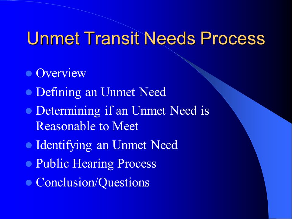 Unmet Transit Needs Process Kern Council of Governments March 15, 2001