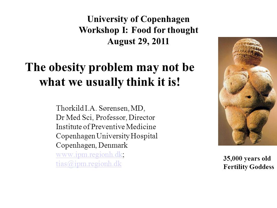 The obesity problem may not be what we usually think it is.