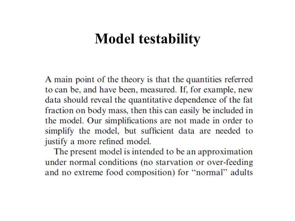 Model testability