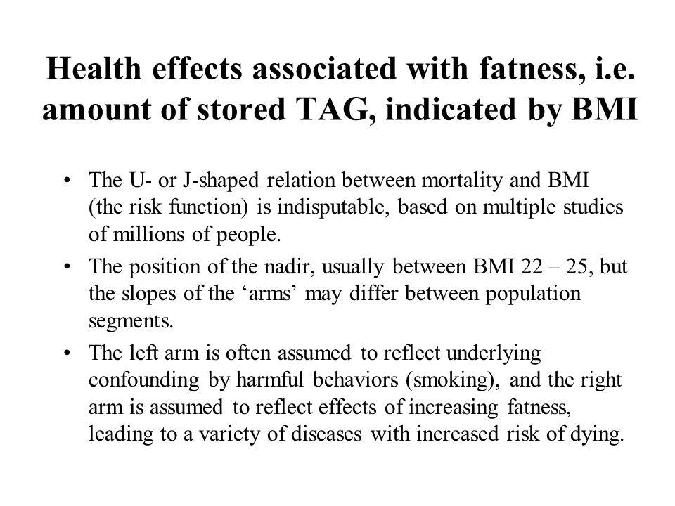 Health effects associated with fatness, i.e.