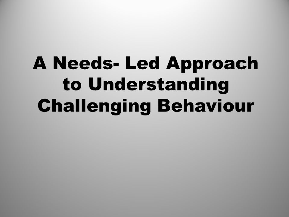 Challenging Behaviour Any behaviour which causes significant distress or danger to the person or others, or any expression of distress by the person. M.Bird(2001) And the person does not respond to interventions Challenging Behaviour is behaviour that is difficult for us to deal with.