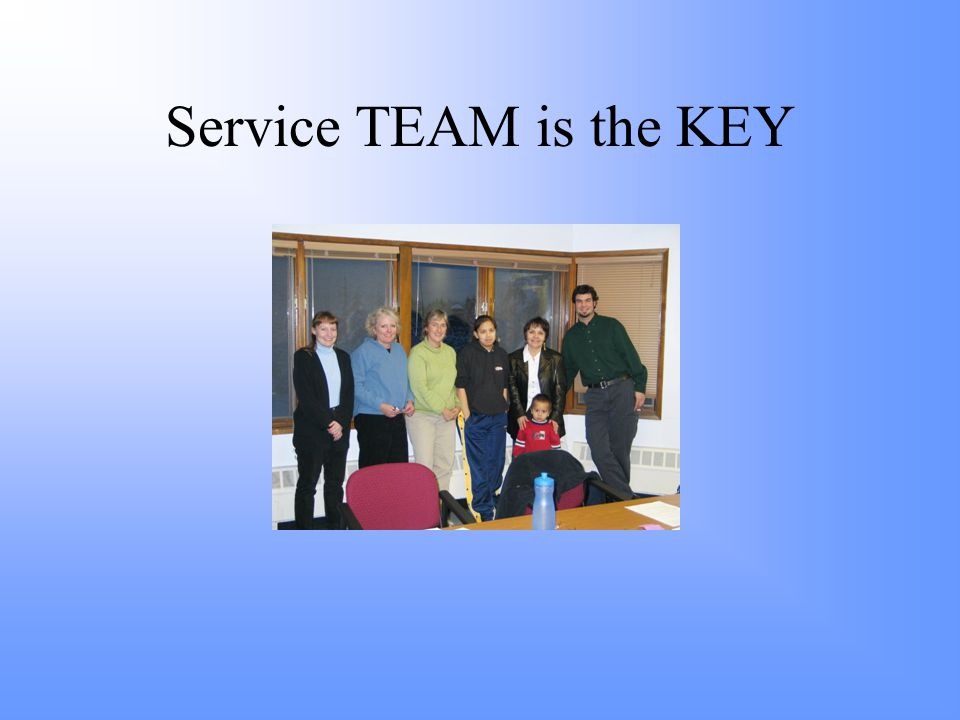 Service TEAM is the KEY