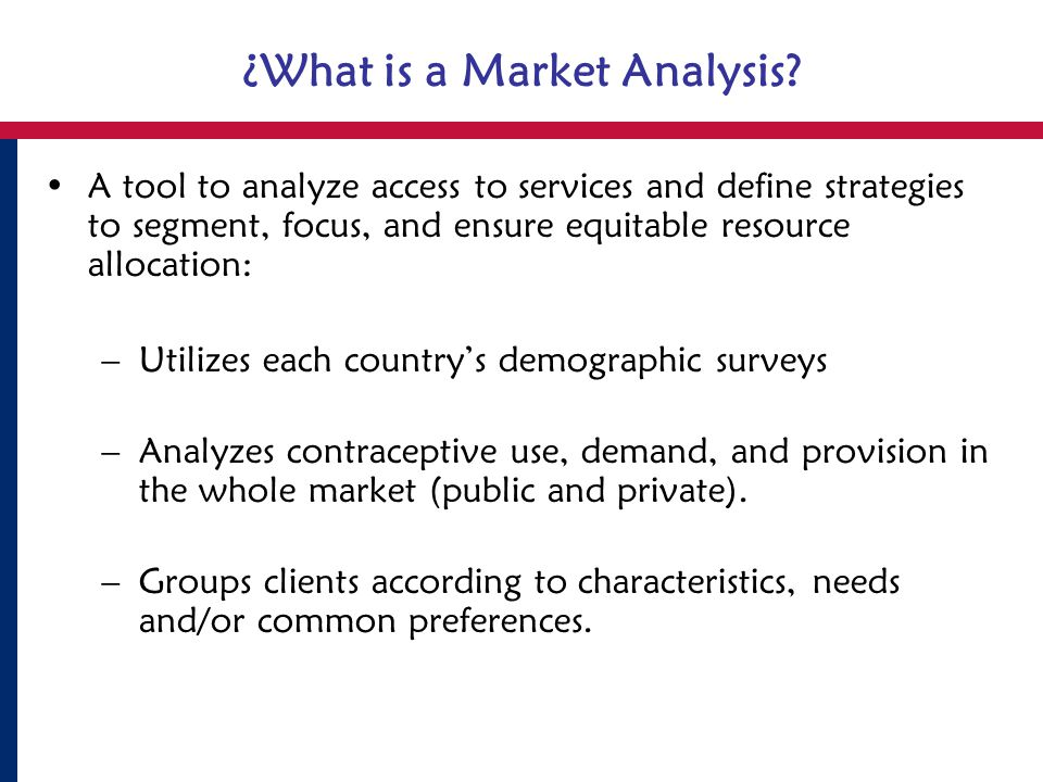 Why is a Market Analysis Conducted.