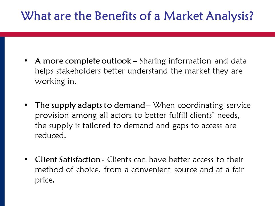 What are the Benefits of a Market Analysis.
