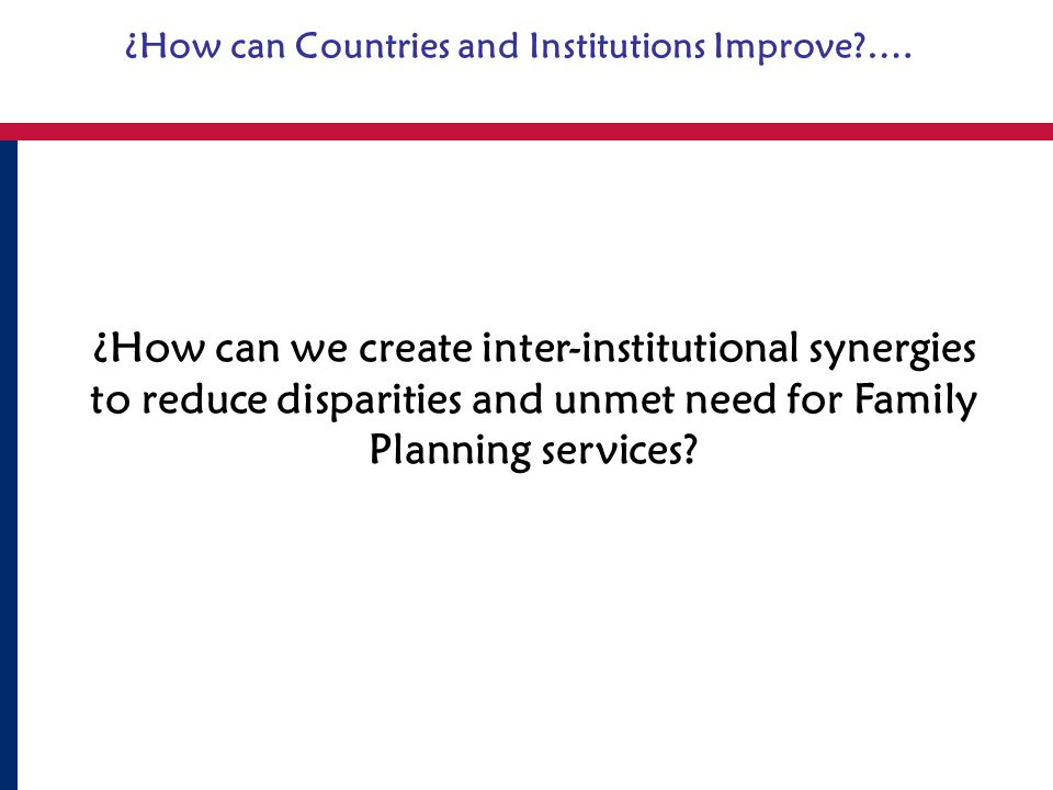 ¿How can Countries and Institutions Improve ….