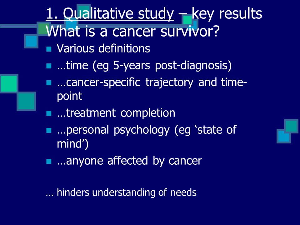 What are the needs of survivors.