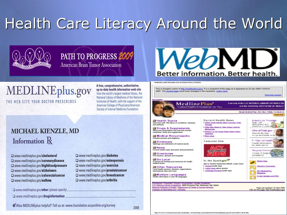 Health Care Literacy Around the World