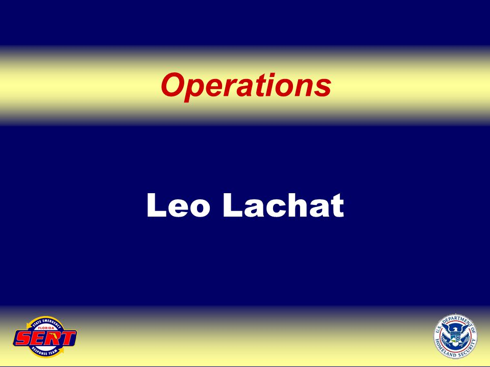Leo Lachat Operations Up Next – Operations Support