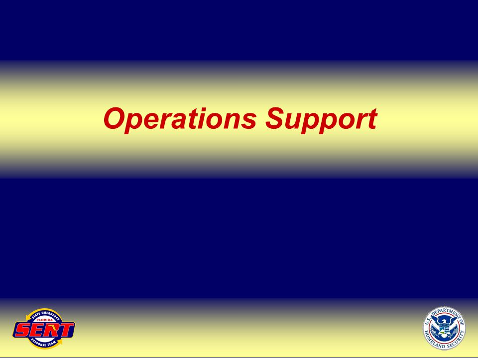 Operations Support Up Next – ESF 1&3
