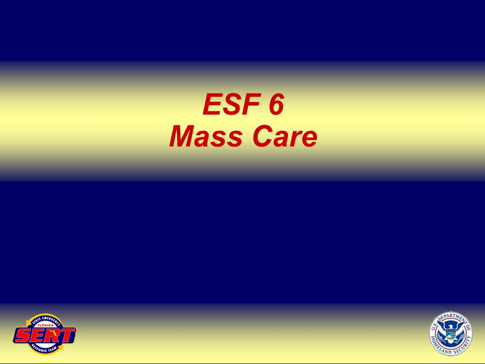 ESF 6 Mass Care Up Next – ESF 8