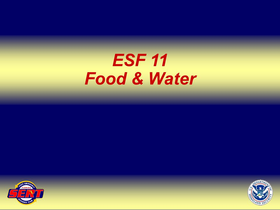 ESF 11 Food & Water Up Next – ESF 12