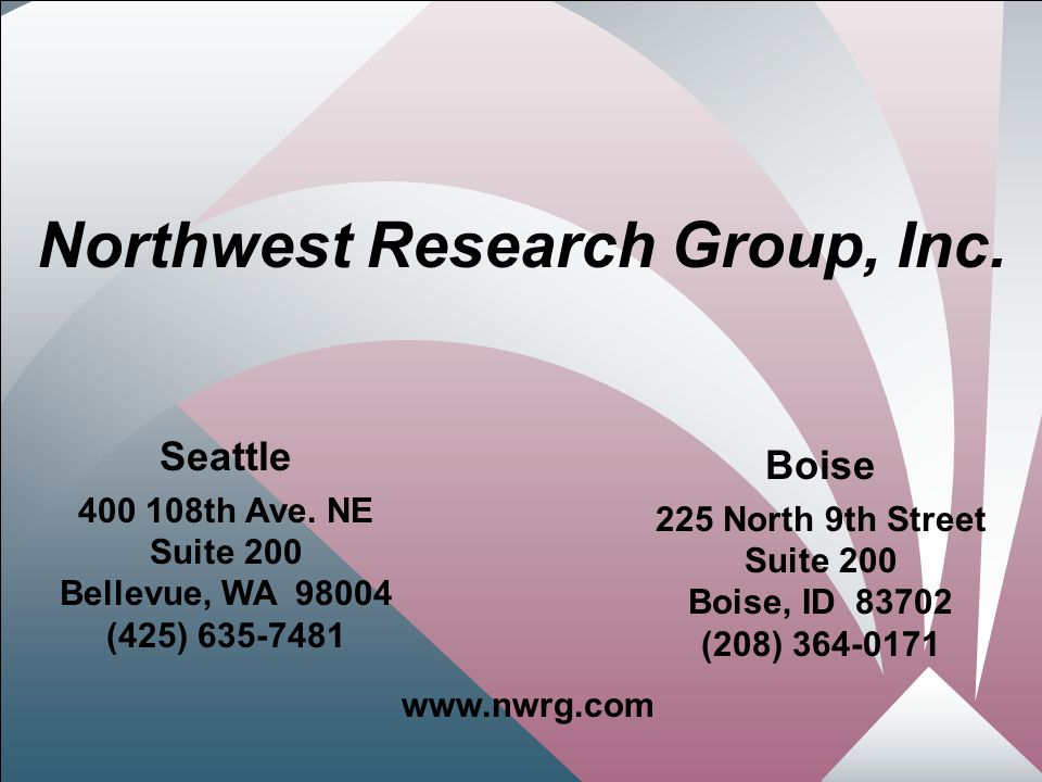 1 Northwest Research Group, Inc.