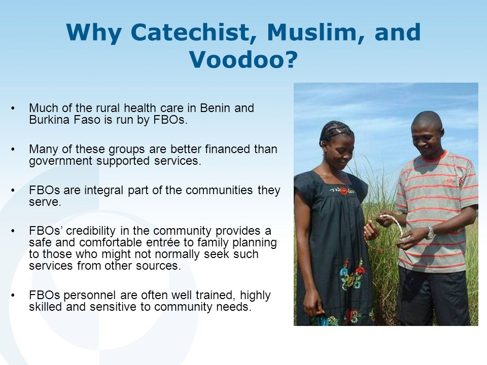 Why Catechist, Muslim, and Voodoo.