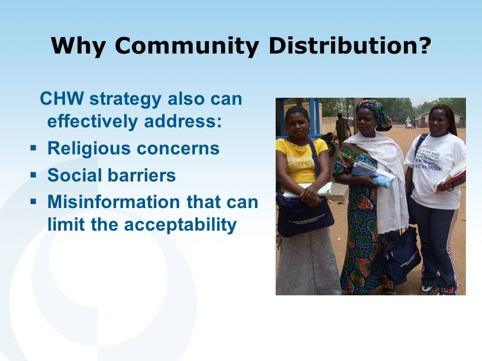 Why Community Distribution.