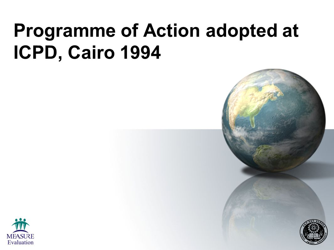 Programme of Action adopted at ICPD, Cairo 1994
