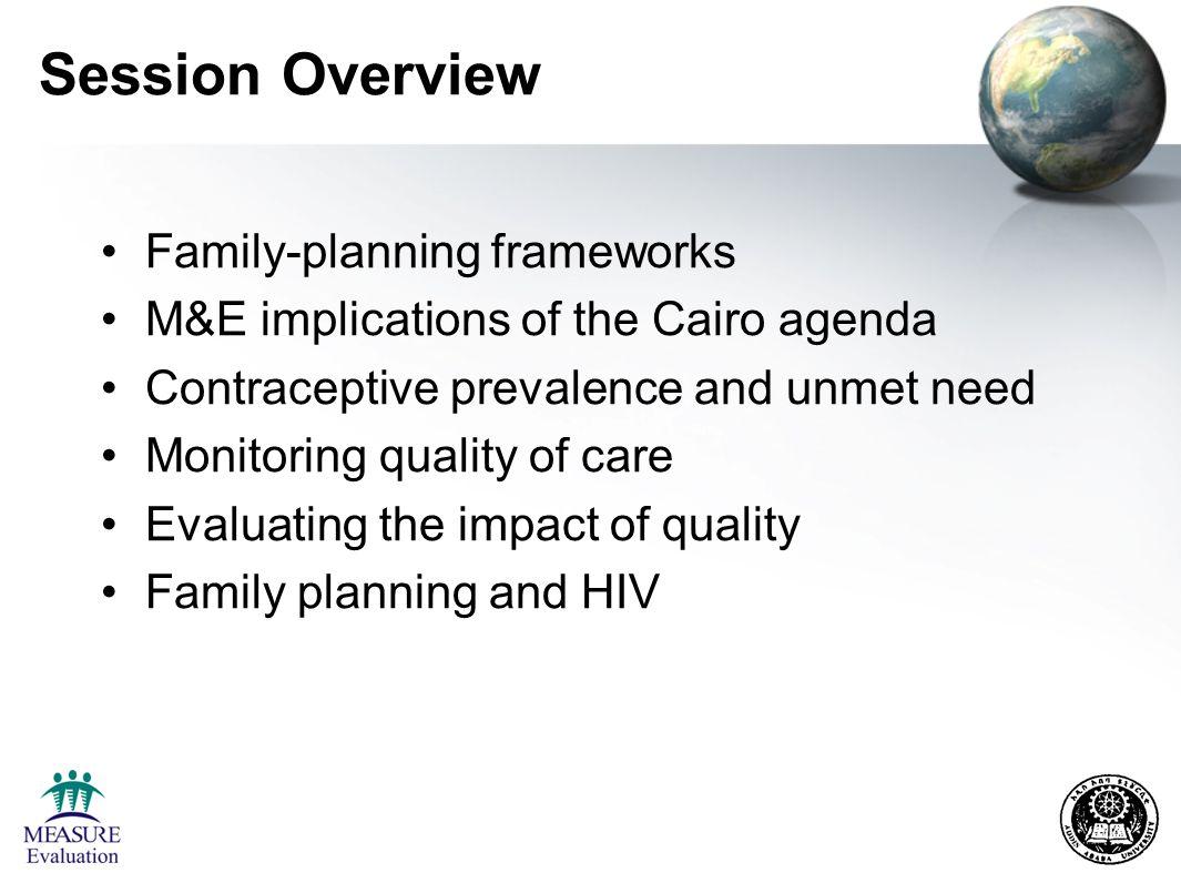 Family Planning Frameworks