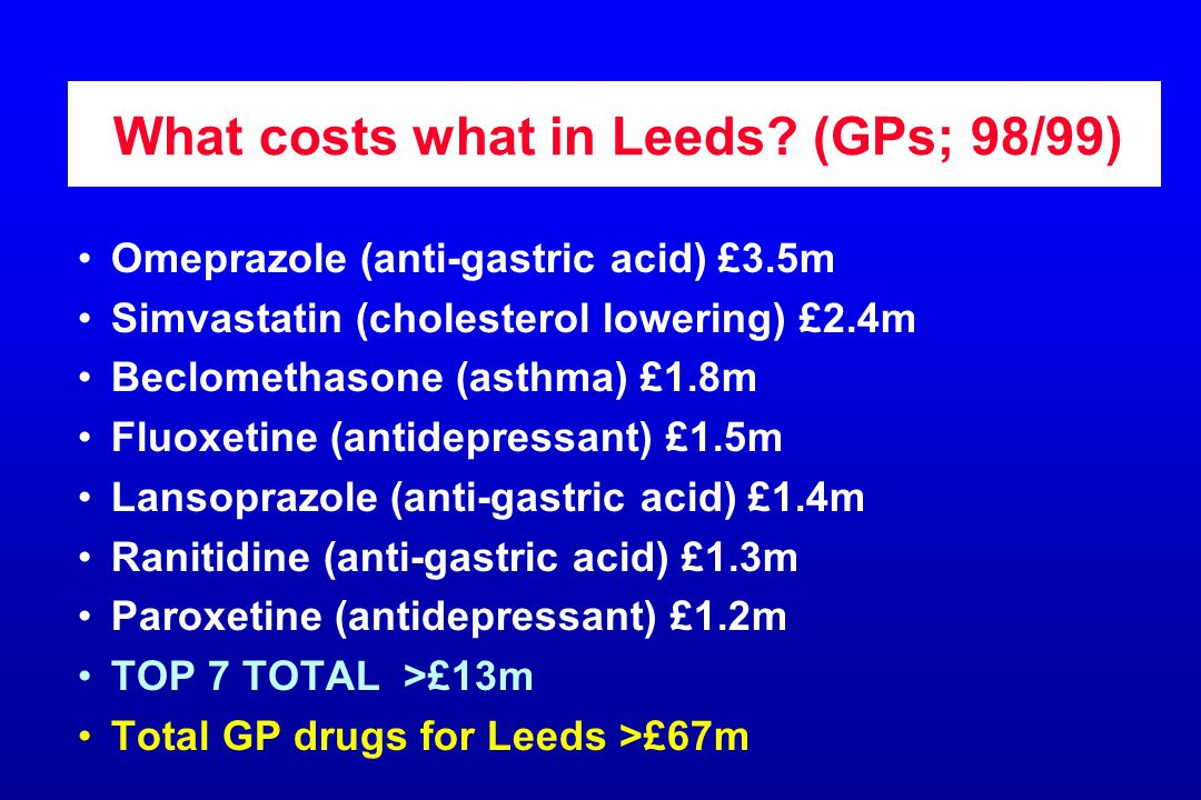 What costs what in Leeds.