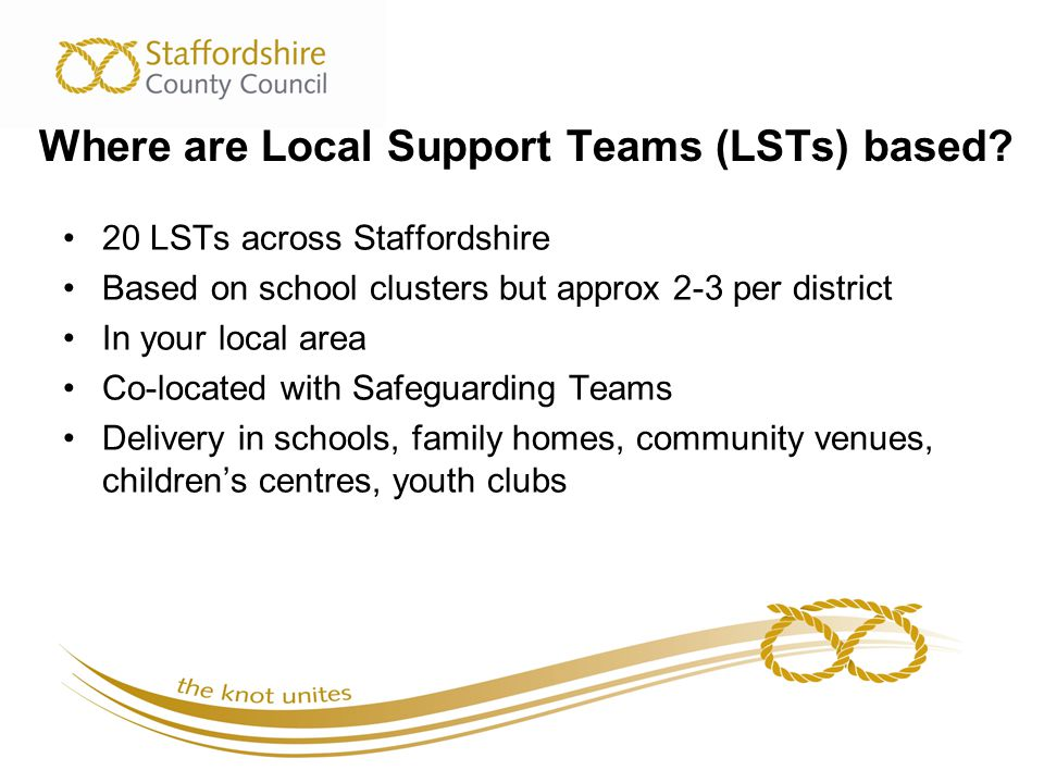 Where are Local Support Teams (LSTs) based.
