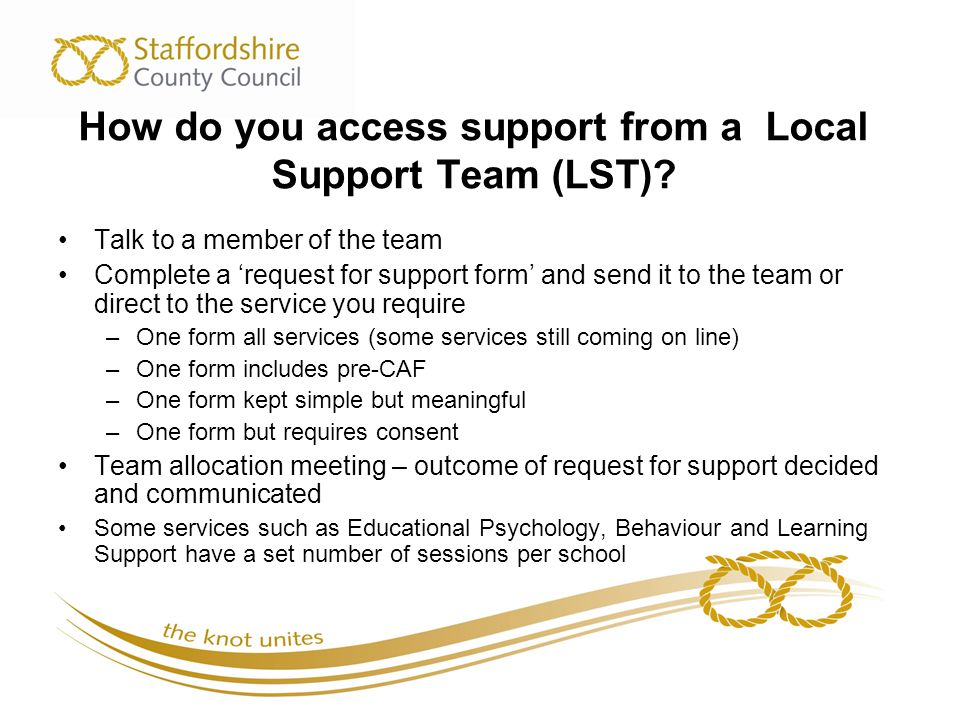 How do you access support from a Local Support Team (LST).