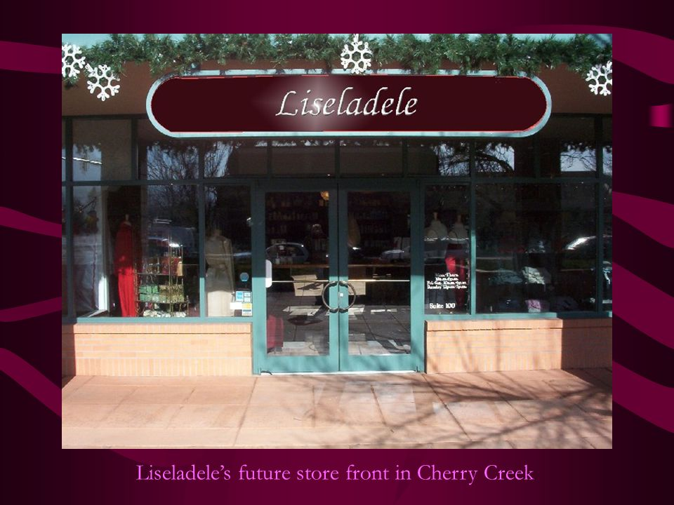 Liseladele's future store front in Cherry Creek