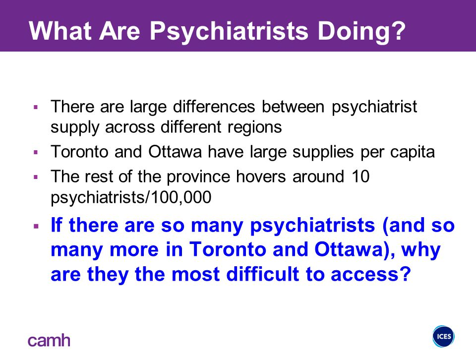 What Are Psychiatrists Doing.