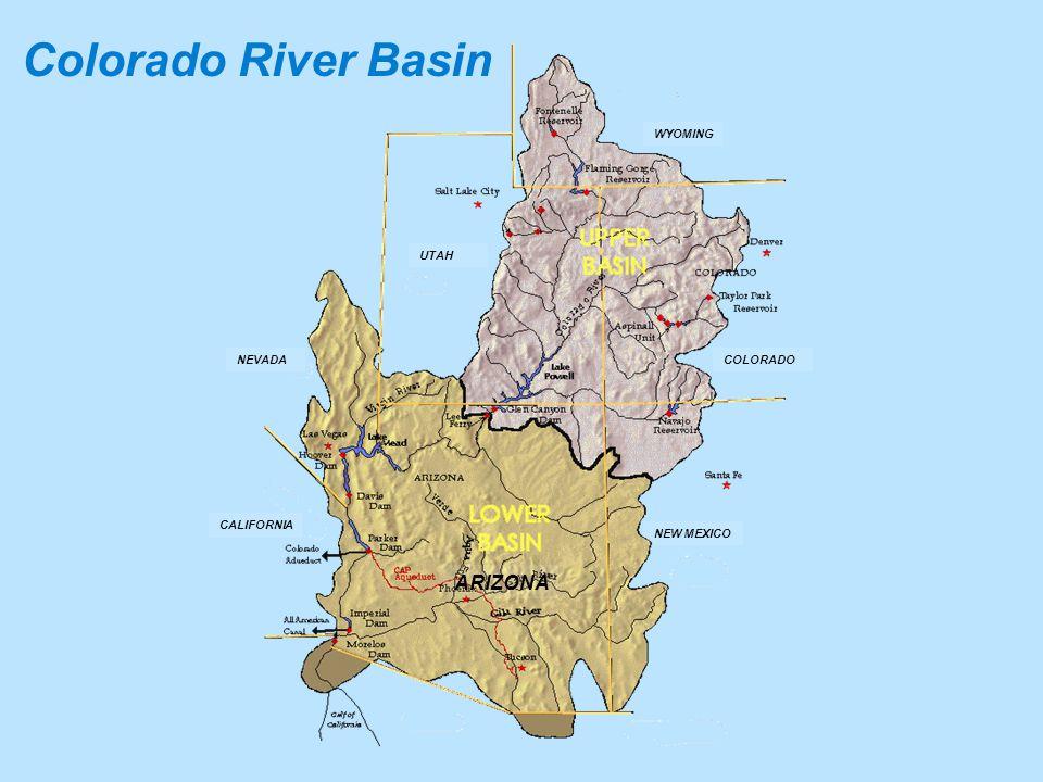 CALIFORNIA NEW MEXICO COLORADO WYOMING UTAH ARIZONA NEVADA Colorado River Basin
