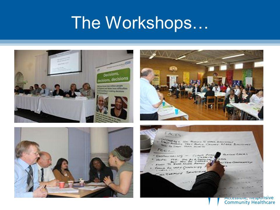 The Workshops…
