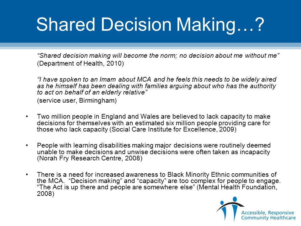 Shared Decision Making….