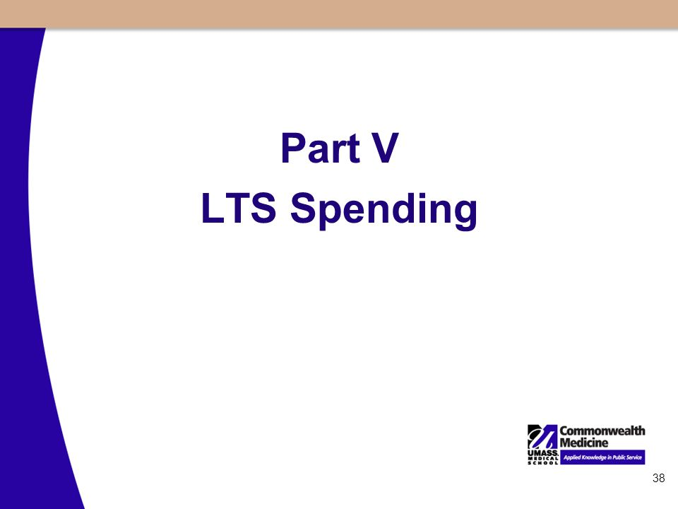 38 Part V LTS Spending