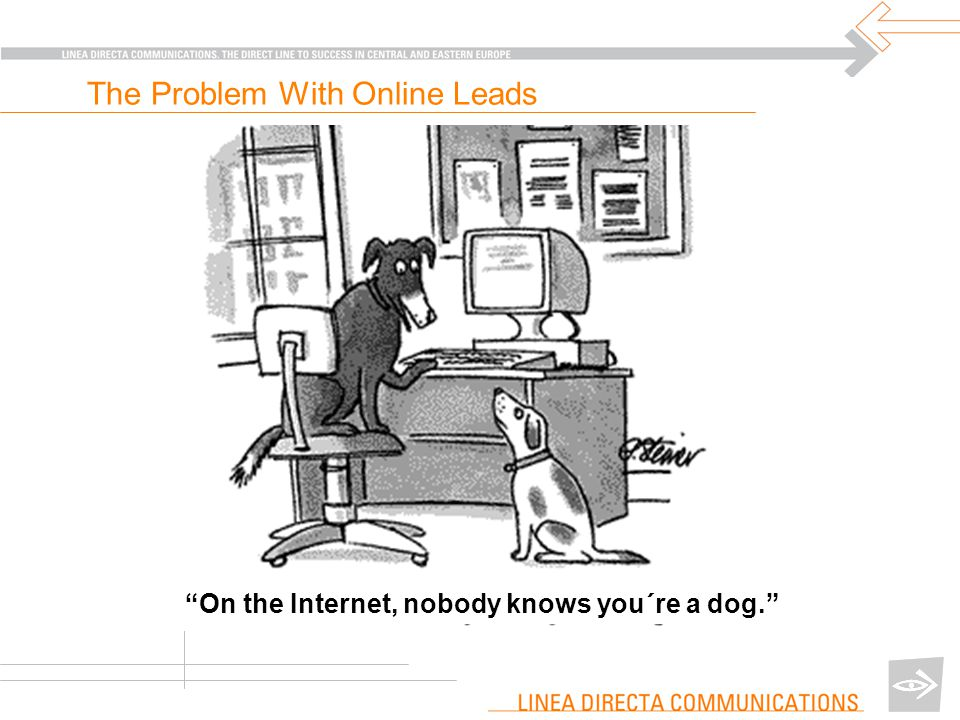 On the Internet, nobody knows you´re a dog. The Problem With Online Leads