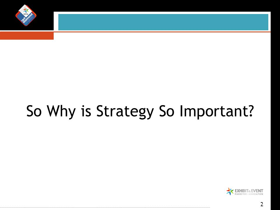 2 So Why is Strategy So Important