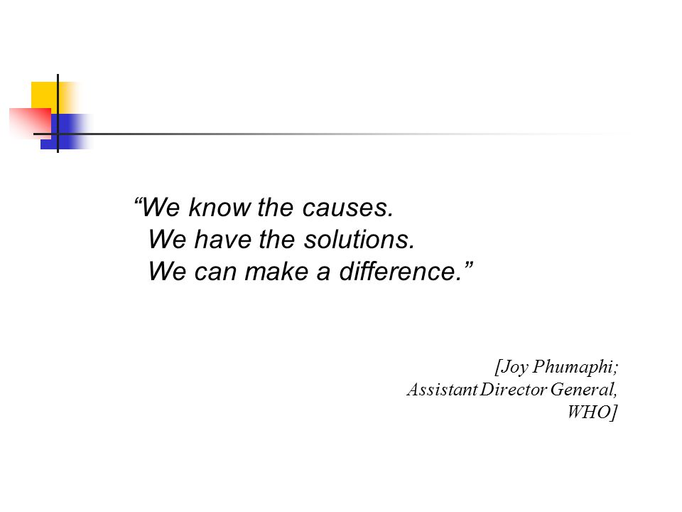 We know the causes. We have the solutions.