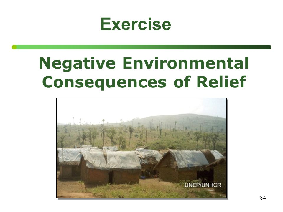 34 Exercise Negative Environmental Consequences of Relief
