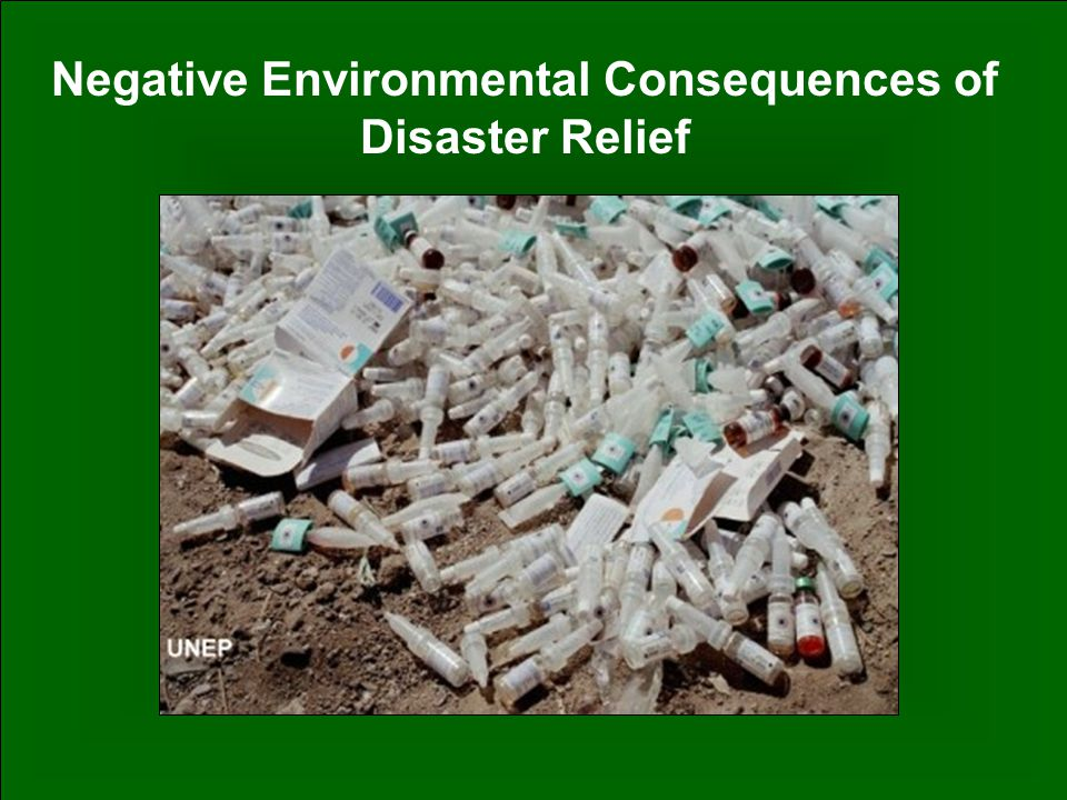38 Negative Environmental Consequences of Disaster Relief